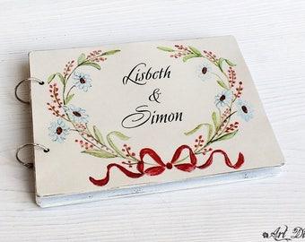 Wedding Guest Book, Guestbook Wedding Wedding Guestbook Guest Book Guestbook Personalized Wedding Gift Custom Guest Book Shabby Guestbook
