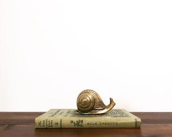 Solid Brass Snail Figurine