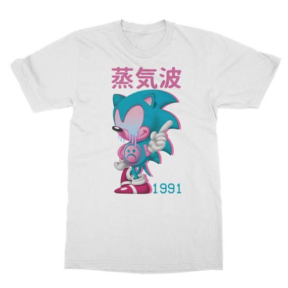 シ Vaporwave Aesthetic Sonics Sad Trip Unisex Sweatshirt シ 7hYxH