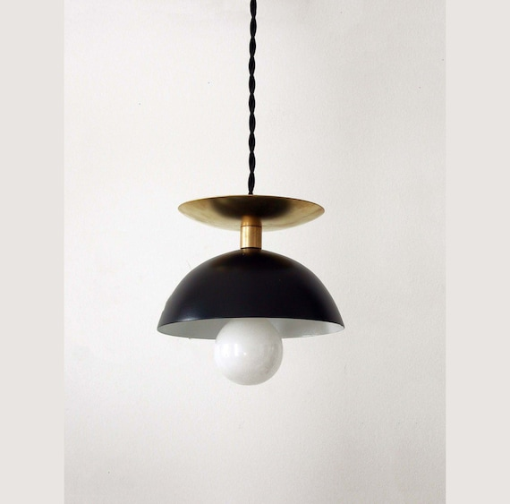 Black brass modern pendant lamp mid century ceiling light mozeypictures Choice Image