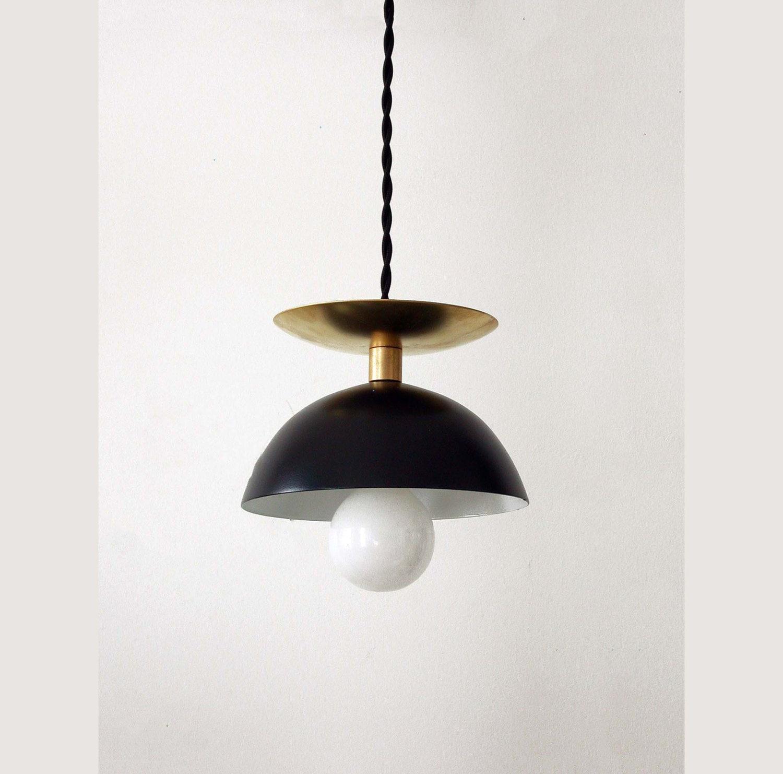Black Brass Modern Pendant Lamp Mid Century Ceiling Light