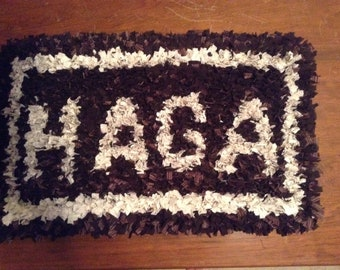 Monogramed accent rug