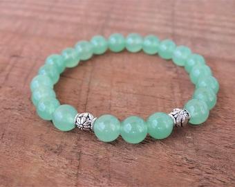 Green Aventurine Bracelet, Chakra Bracelet, Healing Bracelet, Yoga Bracelet, Heart Chakra, Yoga Healing meditation stones Natural wrist mala