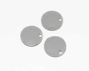3 x enamelled grey sequin