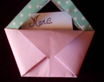 Set of 20 mini origami bags