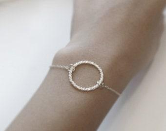 Eternal rope (bracelet) - Classic twisted sterling silver hoop