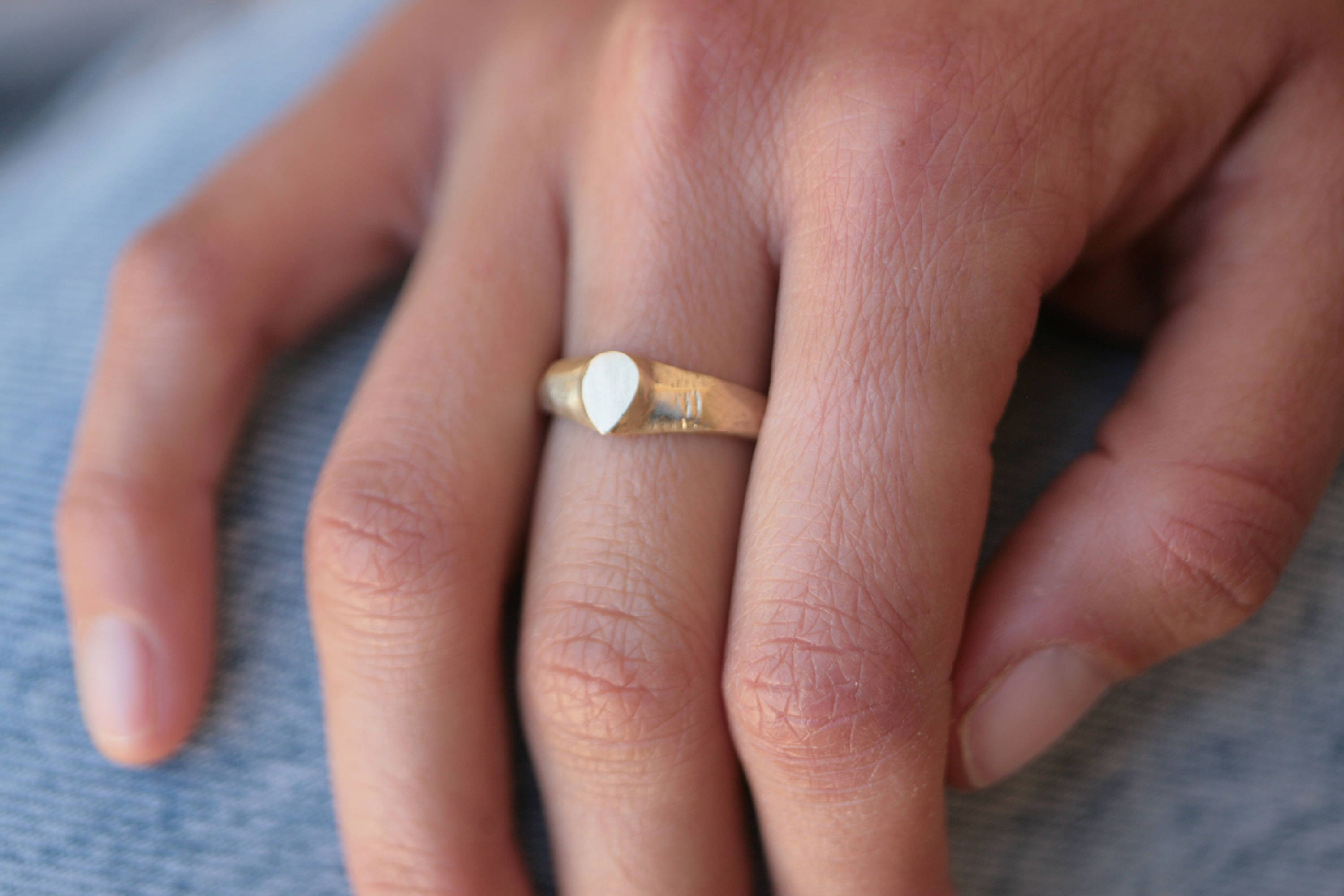 Solid gold ring Modern gold jewelry Boho gold ring