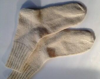 Nordic hand knit men's wool socks