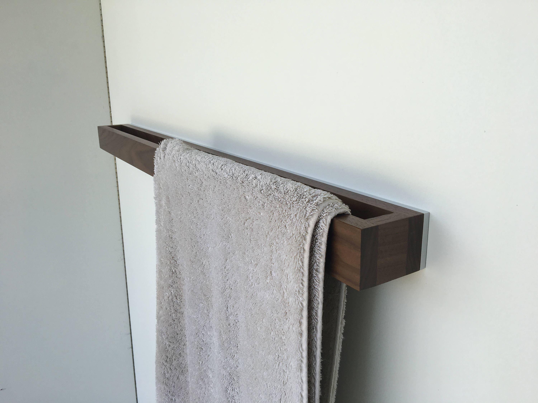 🔎zoom. bathroom towel rack walnutwhite modern towel rack