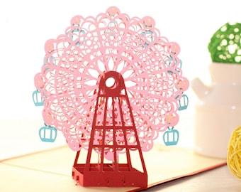 3D Pop Up Skywheel Greeting Card Anniversary Birthday Wedding Gift Craft