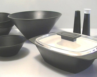 Vintage ACCA David Douglas Accalac Acca Ware Set Black and White