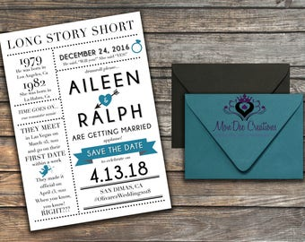 Modern Hip Funny Save The Date