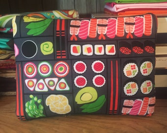 Sushi theme see through zipper pouch