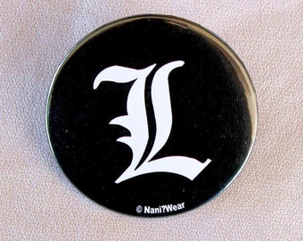 Death Note Anime L 2-Inch Anime Button