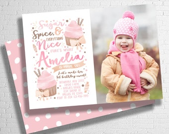 Sugar and Spice Birthday Invitation | Sugar and Spice and Everything Nice | Sweet Celebration | Candy Invitation | DIGITAL FILE ONLY