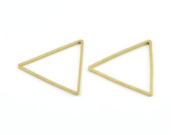 24mm Triangle Charm, 50 Raw Brass Triangles (24x24x24mm) Bs-1125