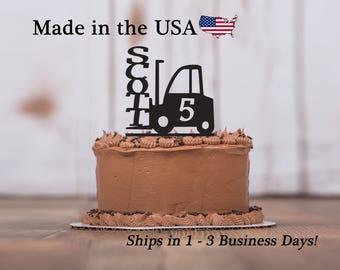 Forklift Cake Topper, Boy Birthday, Party Decor, Cake Topper, Forklift, Cake Toppers, Mans Birthday Party, Cake Decoration, Keepsake, LT1161