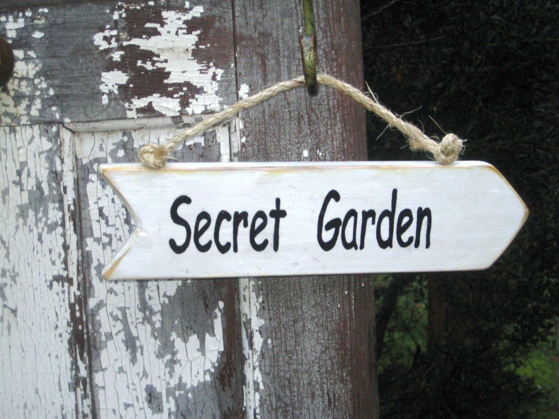 Zeichen der geheime Garten Holz Garten Zeichen Garten-Dekor