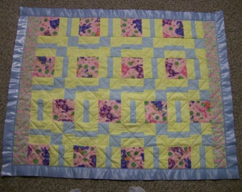 Quilted Baby Blanket 32X40