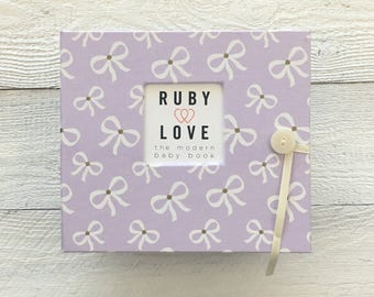 Lavender Bows | BABY BOOK