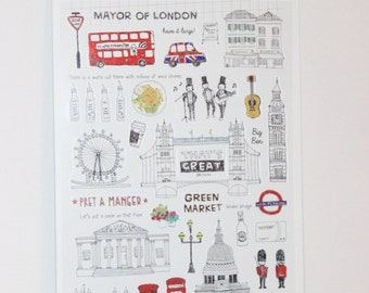"sticker  "" days in London """
