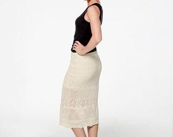 Organic Cotton Marbella Lace Skirt | Organic Cotton Summer Skirt | Lace Summer Skirt