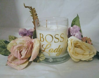 Boss Lady 10 ounce Hand Poured Scented Soy Candle