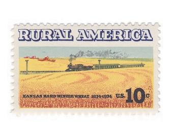 10 Unused Vintage Postage Stamp - 1974 10c Rural America - No. 1506