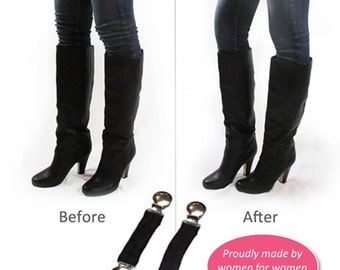 """Boot Snugs: 5"""" Long Length Pant Clips, Pant Straps, Boot Straps, Stirrups- Keep Pants Jeans Snug in Your Boots"""