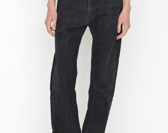 VINTAGE Black CALVIN KLEIN Retro Wide Leg Denim Jeans