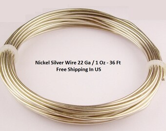 Nickel Silver  Wire 22 Ga  1 Oz . 36 FT. Coil ( Made In USA )