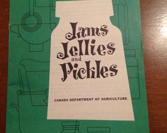 Vintage recipe book- pamphlet- jams jellies pickles