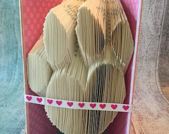 Custom Book Fold - Paw Print w/Heart