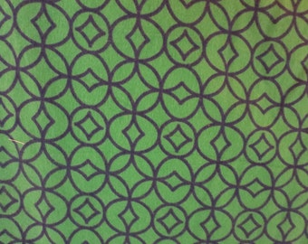 Green and Blue Medallion Flannel -Baby/ Toddler Crib Sheet-Fitted Crib Sheet-Sheets- Bedding-Nursery-