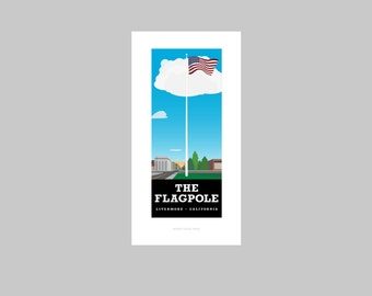 The Flagpole print