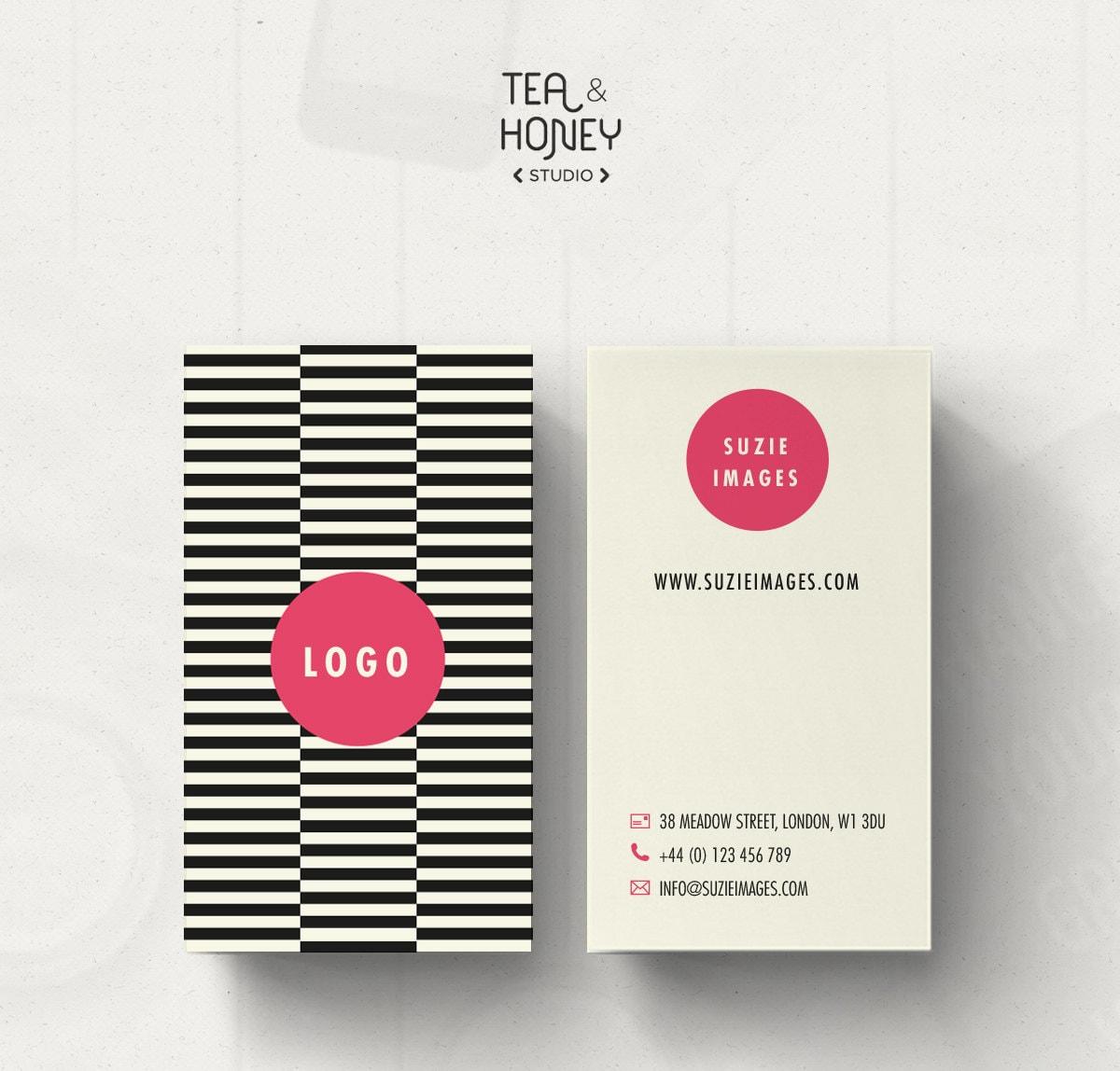 Unique Business Card Design Pattern Business Card Template