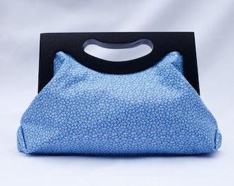 Blue Shimmer Clutch Bag/ Ankara