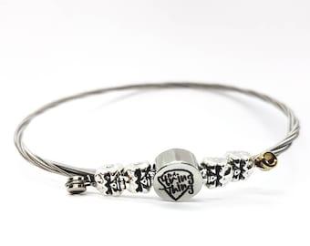Guitar String Bracelet Upcycled Jewellery