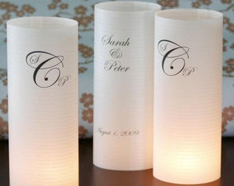 15 custom table number or table name luminaries for events, balls, mitzvahs, showers, birthdays