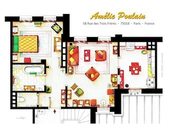 Apartamento de plano de AMELIE en Montmartre