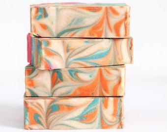 Handmade Soap, Bar Soap, Artisan Soap, Bath and Beauty, Happy Hippie Soap, Birthady Gift, Kids Gifts, Kids Birthday