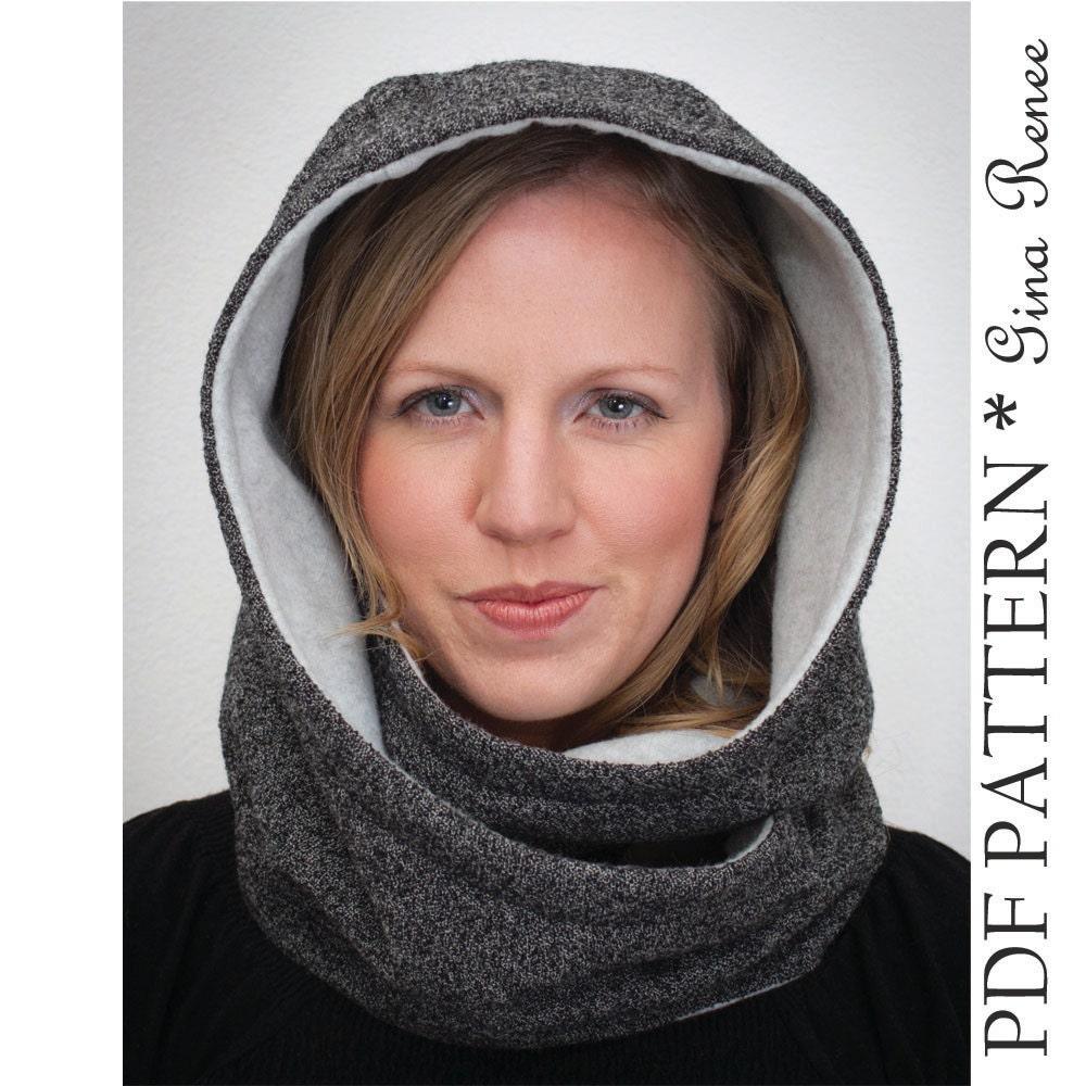 Hooded scarf pattern hood scarf sewing pattern infinity zoom jeuxipadfo Choice Image