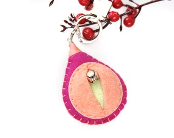 Vagina key chain, vulva keyfob, lesbian keyring, gay housewarming gift, feminist totem, midwifery gift, as seen on HuffPo.com {Anna Key}