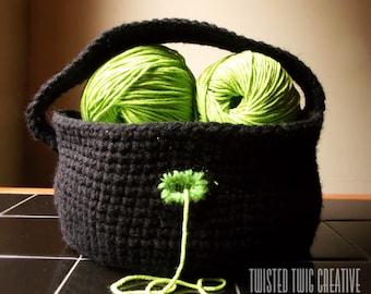 CROCHET PATTERN - Yarn Basket