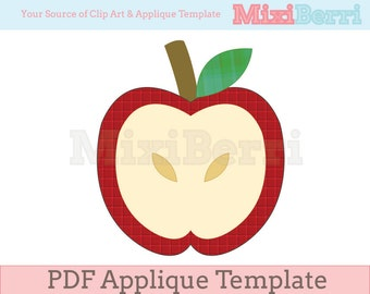 Apple Applique Template PDF