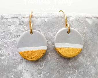 Geometric Earrings-Grey