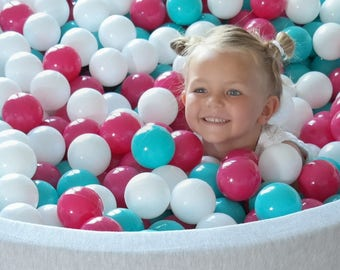 Soft Jersey Baby Kids Children Ball Pit with 300 balls