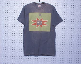 Vintage 90s  Abstract Southwest Hippy T-shirt faded thrashed made in the USA