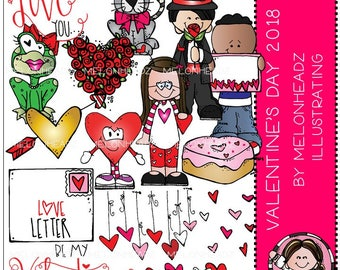 Valentines Day clip art 2018 - COMBO PACK