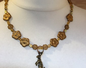 Harvest Gold - Hare Necklace